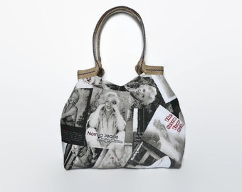 Marilyn Monroe bag, trendy tote bag,  unique purse, fashionable handbag, Marilyn Monroe print, shoulder bag, large handbag,