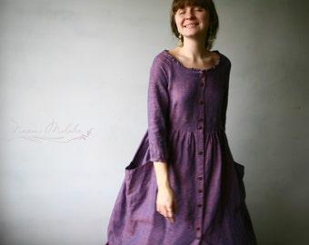 Dress, 100% Linen ,Maxi dress  ,Mid-Length dress , Midi dress