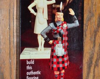 1957 Aurora 420-98 Scotland Scotch Lassie Guys & Gals Model Kit in Box