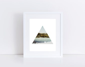Nature Wall Art, Photography Print, Geometric Print, Triangle Photo, Abstract Print, Wall Print, Modern Art Print