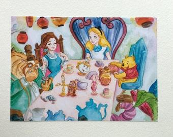 Alice tea party PRINT