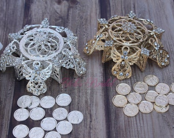 Angel Wedding Arras, Arras de Boda, Unity Coins,  Silver Wedding Arras, 13 wedding Unity Coins, Gold Arras