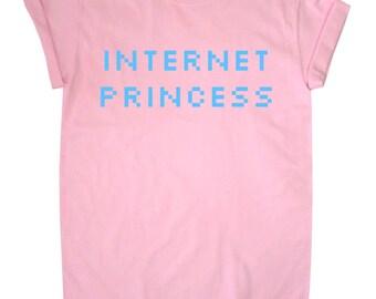 Internet Princess T-Shirt - Womens Girls - S M L XL - Fashion Tumblr Instagram Blogger