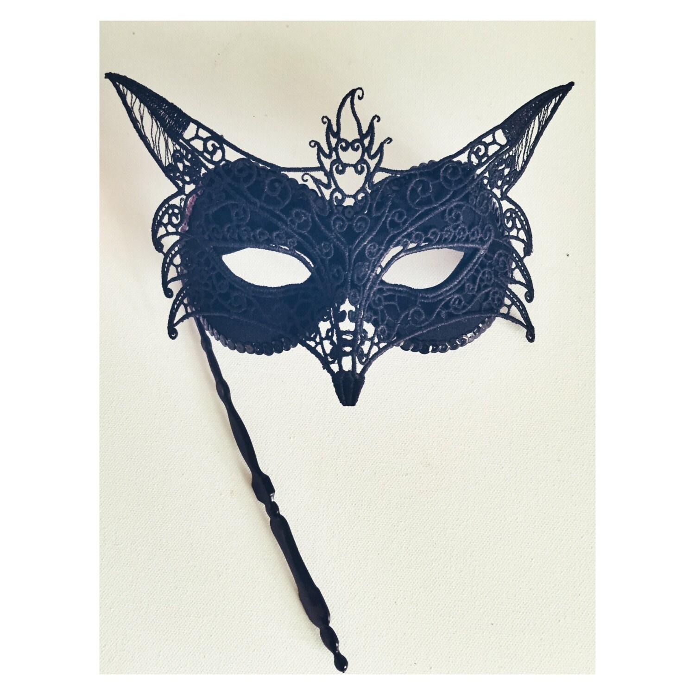 Black Masquarde Mask Fox Masquerade Mask Mask by nashandwillow