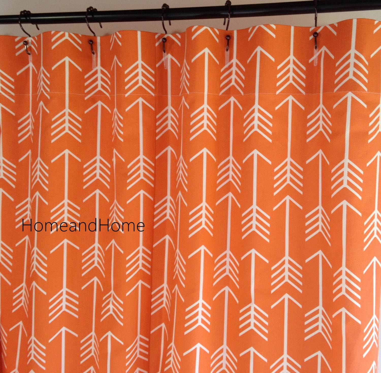 Fabric Shower Curtain Designer 72 X 84 Arrow Macon Apache