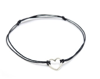 Heart silver Anklet