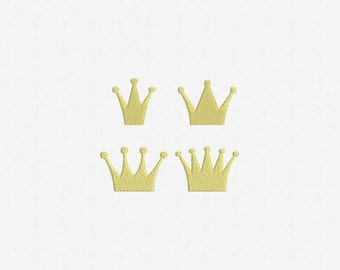 Mini Crown Machine Embroidery Design - 4 Designs by 4 Sizes