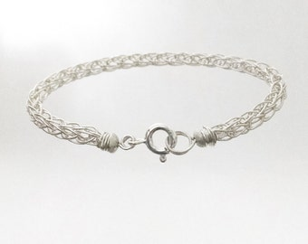 Durable Baby Bracelet Viking Knit Chain Kids Jewelry Sterling Silver