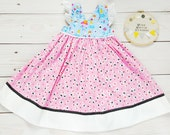 Alice in Wonderland Dress – 12 to 18 month Girls Clothing – Little Girls Summer Dress – Birthday Party Outfit for Little Girls - Onederland