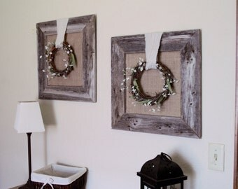 Rustic Framed Wreath (Set of Two)