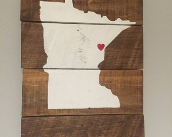 Rustic Home State Pallet Sign