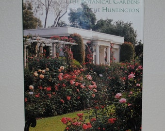 """Vintage Book of The Huntington Gardens, """"The Botanical Gardens at the Huntington"""", 1996 Harry N. Abrams, Book of Gardens, Coffee Table Book"""