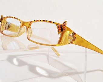 Butterfly Reading Glasses +2.25, Monarch Butterfly, Hand Painted