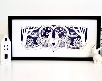 From Stardust To Stardust Screen Print – Midnight colourway limited run of 25