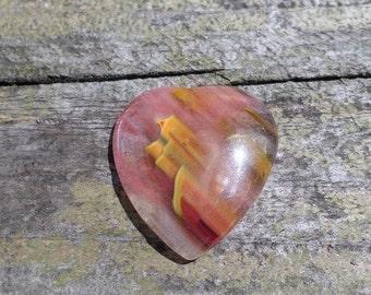 Imitation Watermelon Tourmaline Heart Pendant- P54 (Destash)