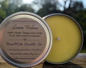 Lemon Verbena 12oz Candle Tin | Candle Tin | Lemon Candle | Lemon Soy Candle | Strong Candle | Sweet Lemon | Lemon Verbena | Strong Lemon