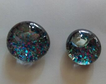 Glass Gem Confetti Magnets - Set of 2