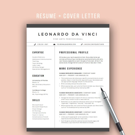 teacher resume template word 4 pages resume icons cv