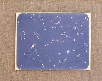 Constellation Note Cards - Set of Flat Note Cards - Sky Stationary - Stars Stationary - Star Cards - Blank Notecards - Blank Note Cards