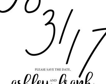 Black & White **SAVE THE DATE** Invitation