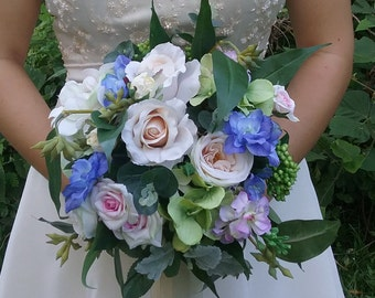 Bridal Bouquet Silk Bouquet Artificial Wedding Bouquet Mixed Flowers Roses