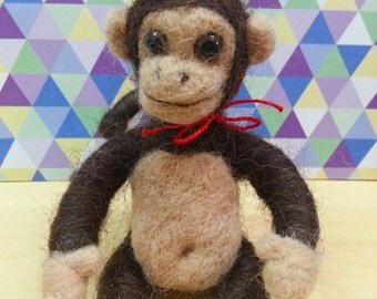 Needle Felted Little Monkey