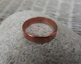 Copper mens ring, copper ring for men, rustic copper ring, jewelry for men, copper man ring, copper hammered ring for men