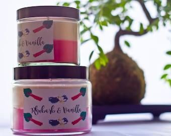candle soy wax two-tone - Rhubarb & Vanilla