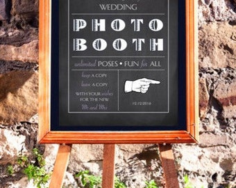 Wedding Photo Booth Sign - chalkboard