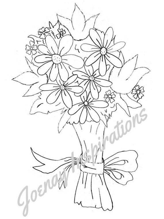 Adult Coloring Book, Printable Coloring Pages, Coloring Pages, Coloring Book for Adults, Instant Download, Fancy Flowers 2 page 6
