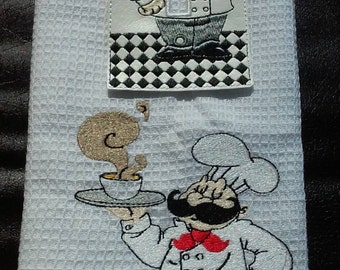 Fat Chef Kitchen Towel and Light Switch Plate