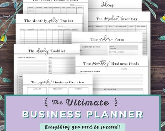 Small Business Planner Printable, Etsy Business Organizer, Home Business Management, Project Planner Productivity, Order Form, Direct Sales