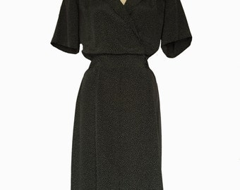 1980s Liz Claiborne Work It Dress, Black, White, Chic, Promotion Guaranteed