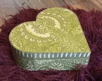 Hand decorated trinket box