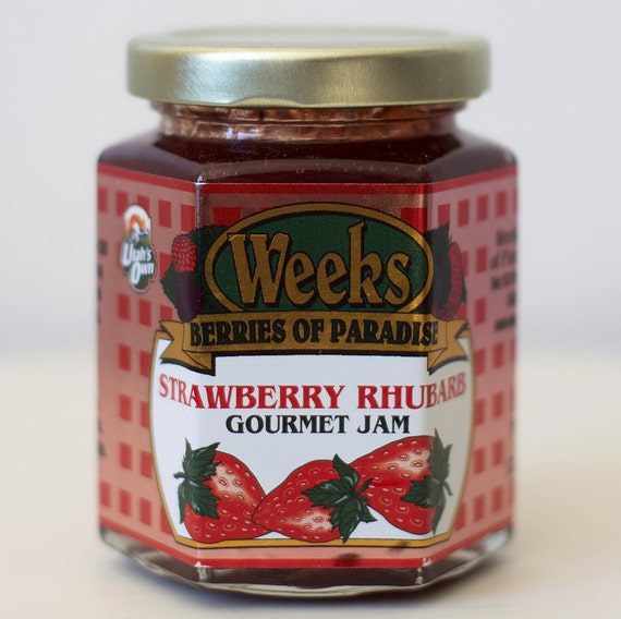 All Natural, Organic, Gourmet, Strawberry Rhubarb Jam - Utah's Own, Preserves, Jelly, Marmalade