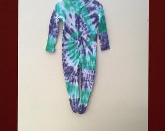 Tie dye baby sleepsuit romper 9-12 months