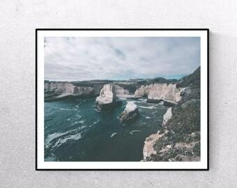 Coastal print, coastal prints, coastal decor, coastal art, ocean print, beach photography, rocky coast, rocky coast photo, rocky coastline