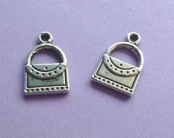 10 Handbag Charm Silver Purse Charm - CS2130