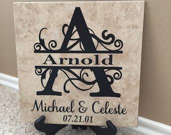 Family Name Plaque, Family Name Sign, Family Name Decal, Last Name Sign, Wedding Gift, Established Sign, Family Name Decor, Name Print