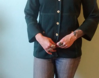 Dark Green Polyester Jacket