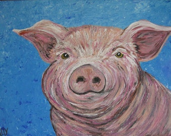 Wilbur, That's Some Pig, acrylic pig painting
