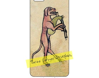 iPhone 5 printable case design (dog playing bagpipe); DIY print at home iPhone accessories for 5, 5S, or SE