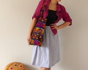 Tote bag multicolor wax - African fabric