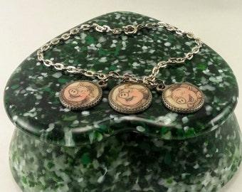 Three Little Pigs - Charm Bracelet