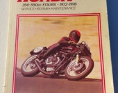 Clymer Honda 350-550cc Fours 1972-1978 * service, repair, maintenance manual with full color wiring diagrams (1979)