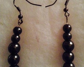 Black Magnet Earrings