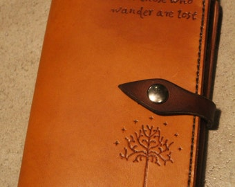 Handstitched Leather Moleskine Journal Cover Lord of the Rings inspired