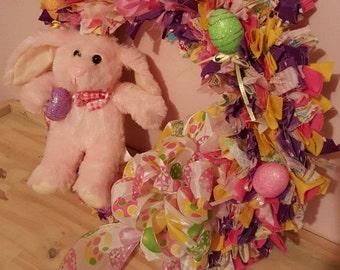 Easter Egg Hunt Fabric Wreath