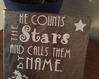 He Counts the Stars Tile