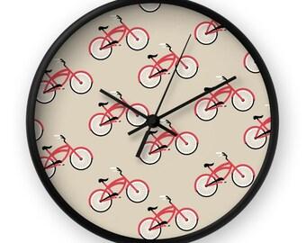 Bicycle Clock - Bicycle Wall Clock - Retro Wall Clock - Retro Clock - Mid Century Clock - Mid Century Wall Clock - Vintage Clock